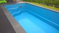bazén vyčištěný